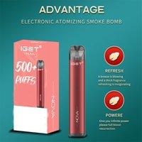Authentic Iget Nova Disposable E Cigarette Rechargeable Device 1100mAh Batteries 2ml Pods 500 Puffs Vape Pen Kit VS Bang XXL King Plus Max Air Bar multiple choices