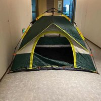 Tents And Shelters 2-3 People Camping Outdoor Automatic Quick Open 190T Silver Coated Cloth Beach Folding Tent One Door Three Windows