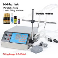 GZL-80 Peristaltic Pump Bottle Water Filler Liquid Vial Filling Machine Beverage Drink Oil Perfume Making Machines 0.5-650ML With Double Heads