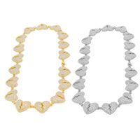 Хип-хоп завещание Chian Chian Подвески Ожерелье Ювелирные Изделия Мужская Женская Золотая Серебро Разбитое сердце Ожерелья 1260 B3