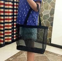 C классический белый логотип меш сумка для покупок роскошный рисунок Путешествия Сумка женские хранения сетки
