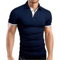 Polo New Fashion Shirts 2020 Mens Summer Designer Men Brand Polos Breathable Slim Short Sleeve T Shirt 10 Colors Size S-5XL