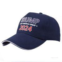 트럼프 모자 여름 태양 음영 조정 가능한 야구 모자 2024 대통령 선거 캡 파티 모자 바다 운송 T2i51968