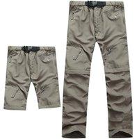Calças masculinas casuais casuais homens secos verão calças destacáveis homens ao ar livre esportes respirável impermeável militares nice curto