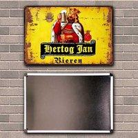 Hertog Jan Blonde Belgian Vintage beer Tin Art Metal Sign Home Man Cave Bar Pub Decor Painting 20*30 CM Size JT-71