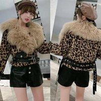 Women's Fur & Faux Women 2021 Winter Elegant Coat Female Big Collar Warm Soft Jacket Ladies Plush Overcoat Casual Outwear D431