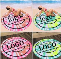 Rounded Sandy beach towels Multifunctional towel 150*150cm microfiber have logo by beauty1024