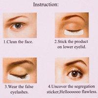 False Eyelashes 40pcs Non-woven Fabrics Patches Eyelash Under Eye Pads Lash Extension Fabric Tips