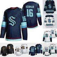 16 Luke Henman 2021 Seattle Kraken 첫 번째 플레이어 저지 32th 새로운 팀 맞춤형 홈로드 저지 100 % Stitchedany Nunber 모든 이름 남성 여성 청소년 소우거 유니폼