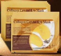 EPACK nero cristallo collagene oro polvere occhio viso maschera cristallo maschera facciale idratante anti-invecchiamento viso maschera libera spedizione veloce