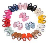 أول مشوا القوس عقدة حذاء طفل رضيع لينة 0-1-2 سنة
