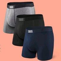 4 couleurs Saxx Sous-vêtements pour hommes Vibe Moderne Fit / Ultra Boxer Sous-vêtements confortable Hommes Boxer, 95% Viscose, 5% Spandex ~ (Taille nord-américaine)