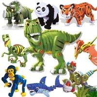 Bloques de espuma de EVA de rompecabezas 3D, paraíso de dinosaurios jurásicos, ciencia y educación para niños juguetes de exportación