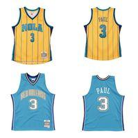 Kundenspezifische Nähte Basketball-Trikots Männer Frauen Jugend S-6XL Chris 3 Paul Jersey Yellow 2005-06 2010-11 Mitchell Ness Hardwoods Classics Retro Wear