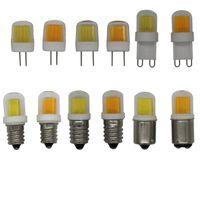 Луковицы G4 G8 G9 E11 E12 E14 BA15D AC110V AC220V 1511COB 5W Dimmable Crystal Light LED светодиодные лампы мозоли заменить 50W галогенную лампу 5 шт. / Лот