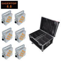 Tiptop 9x18W 6in1 RGBWA UV Pil Kablosuz LED Par Açık Beyaz / Siyah Demir Konut Opsiyonel Şarj Yol Paketleme