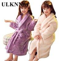Улькнн зимний детский халат пижамы для девочек детские ножки одежда 2-14 лет подростки пижамы для мальчиков 210901