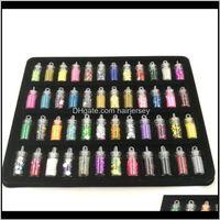 Art Salon Health & Beauty Drop Delivery 2021 Rushed Glitter Powder 48 Bottles Set Mini Colorful Sequins Series Nail Beads Acrylic Uv Gel Rhin