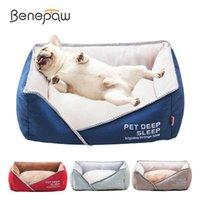Kennels stylos benepaw confortables lits de chien pour petits grands chiens de grande taille durable amovible antidérapant doux chiot dormant couchage couchage
