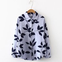 Summer Women T-shirt Casual Long Sleeve Shirt Tree Leaves Printed Leisure Top Blouse Cardigan Women's Blouses & Shirts