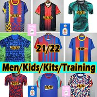 Barcelona Neu 21/22 Fußball Trikot Copa DELREY Messi Ansu Fati Griezmann Dembélé F.De Jong Dest Alba 2020 2021 Barca Soccer jerseys Männer Kinder Kits Training Fußball Trikots