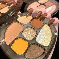 Amber colorato glassa a 8 colori ombretto polvere panino perlaceo matte di colore terra arrossire ad alto lucido all-in-one occhio femminile shadow1