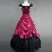 2021 verão princesa festa vestido traje medieval retrô gótico vitoriano histórico peroid vestidos de bola 2 cores para mulheres