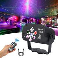 6 Lens Laser Lighting USB Remote DJ DJ DJ Light RGB Sound Party Lights per la casa Compleanno di nozze