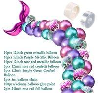 42pcs arco conjunto de balão de cauda Pequenas decorações de sereia suprimentos de casamento decoração festa de aniversário tnmvk jmrbe