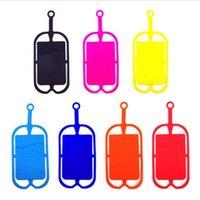 Kredit ID Bag Silikon Lanyards Neck Halsband Sling Card Hållare Rem för iPhone X 8 Universal Mobile Mobiltelefon