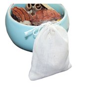 Mutfak Kahve Çay Araçları Taşınabilir 8x10 cm Pamuk Kullanımlık İpli Çanta Paketleme Banyo Sabun Otlar Filtre Çay-Yaprak Çanta