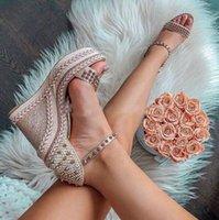 Design de luxe Spikes Lady Red Bas Sandales Compenses Madminonica Plateforme Sandal Sandal Strap STANDS STANDES FEMMES HAUTE TRAIENT HAUTE TRAITES Robe de mariée de soirée