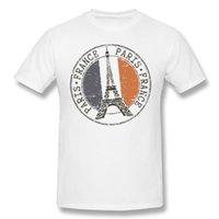 캐주얼 패션 티셔츠 남성 면화 짧은 소매 파리 프랑스 에펠 탑과 프랑스 국기 스탬프 품질 남성 티셔츠 망 [rtguub3 @ 163