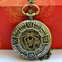 Hurtownie Quartz Roman Scale Crab Kieszonkowy Zegarek Zegarek Kieszeniowy Trendy Dorywczo Design Brązowy Zegarek Kieszeniowy Scorpion 9011