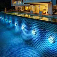 Lumières sous-marines Batterie opérée 10leds RGB LED Lumière submersible Lampe de nuit Piscine de jardin pour bol de vase de mariage.