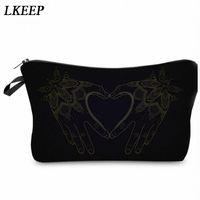 2019 Love Heart Pattern Women Clutch Cosmetic Bag Make Up Organizer Fashion Women Printing Multifunction Portable Makeup Bags S5hI#