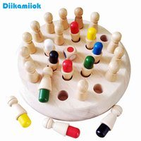 Kids Wooden Memory Match Stick Chess Fun Color Game Board Puzzles Educational Toy Cognitive Ability Learning Toys for Children A0511
