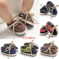 First Walkers Born Baby Boy Shoes Lace-Up Canvas Boys Spring Autumn Soft Sole Infant Crib Toddler