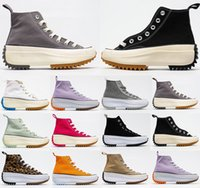 Converse 1970 thick-soled loose jagged tooth high-top JW joint J.W. Anderson x Converse chuck Run Star Hike 1970s canvas shoes