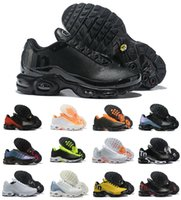 En Kaliteli 2021 Mercurial Artı TN SE Ultra Koşu Ayakkabıları Üçlü Siyah Beyaz Mavi Gerçek Chaussures Air Requin Erkek TNS Bayan Eğitmenler Açık Sneakers
