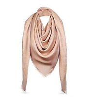 Bufanda de seda para mujer bufandas de temporada bufanda mujer chal letra patrón cuello largo 4 hoja trébol de oro hilo cuadrado con caja