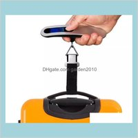 Household Scales Sundries Home & Garden Portable Travel 110Lb   50Kg Lcd Digital Hanging Luggage Scale Weight Balance With Retail Box
