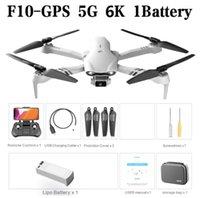 2021 F10 Drone ile 6 K HD Geniş Açı Kamera GPS 5G WiFi FPV Gerçek Zamanlı Şanzıman RC Mesafe 2km Profesyonel Quadcopter