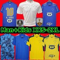 Camisa Cruzeiro 2021 Centenary Ev Futbol Formaları 100. Yıldönümü 2022 Dede Léo M. Moreno Pottker Manoel 100 Anos Eğitim Takım Elbise Erkekler Çocuklar Kiti Futbol Gömlek 21 22