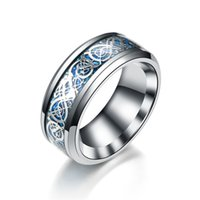 band rings Gold piece silver dragon grain ring cross border product source good goods