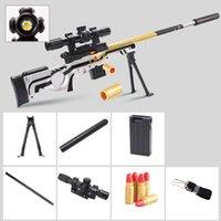 Awm ручной игрушечный пистолет для мальчиков с мягкой пулей пластиковый оружия моделя снайперская винтовка airsoft оболочка