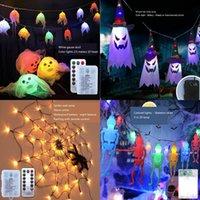 Forniture per feste Decorazioni di Halloween Led Spider Web Lights Indoor ed Outdoor Atmosphere Layout Puntelli Telecomando Light LLB9966