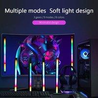 Smart Home Control RGB LED Light Bar BAR Musica Sound Sound Voice-Activated Pickup Rhythm Lamp PC Desktop Setup Retroilluminato Atmosfera per auto