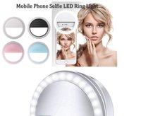 Selfie Universal Selfie LED Bague Flash Light Portable Téléphone portable 36 LEDS Lampe Clip lumineux pour tous les téléphones portables