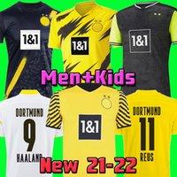 Haaland Reus Borussia 21 22 Jersey 4e 4ème Soccer 2021 2022 Chemises de football Bellingham Sancho Hummels Brandt Accueil Hommes + Enfants Kit Maillot de pied